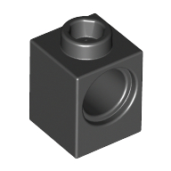 Black Technic Brick 1 x 1 with Hole