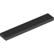 Black Tile 1 x 6 with Groove