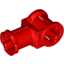 Red Technic Axle Connector with Axle Hole