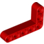 Red Technic Beam 3 x 5 L-Shape Thick