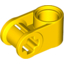 Yellow Technic Axle and Pin Connector Perpendicular