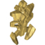 Pearl Gold Bionicle Armor Small Triangular with Pincer End
