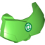 Bright Green Hero Factory Chest Armor Small with Green Lantern Logo Print
