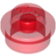 Trans-Red Plate Round 1 x 1 with Solid Stud