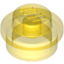 Trans-Yellow Plate Round 1 x 1 with Solid Stud