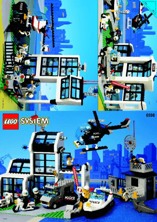 Police Station 6598 Lego City Police Building Instructions