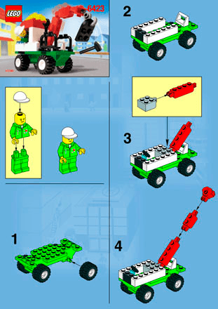 Tow Away Truck 6423 Lego City Emergency Building Instructions