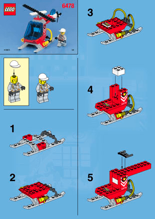 Fire Station 6478 Lego City Fire Building Instructions Lego