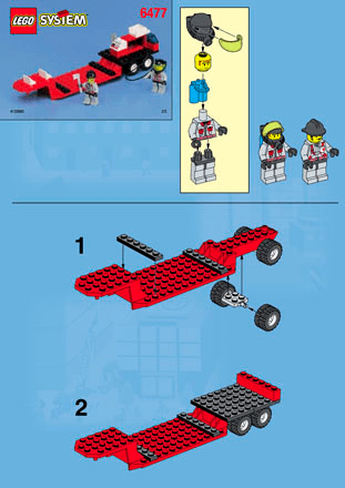 Superpower Fire Engine 6477 Lego City Town Building Instructions