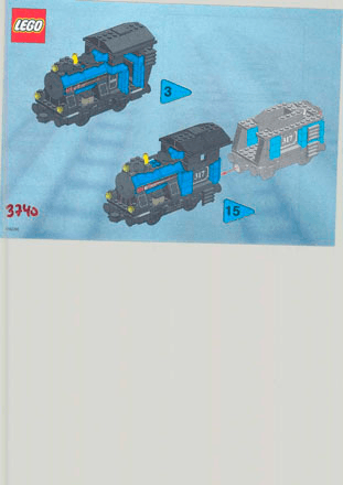 Small Train Basis 3740 Lego City Trains Building Instructions