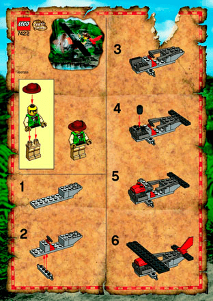 Red Eagle 7422 Lego Adventurers Building Instructions Lego