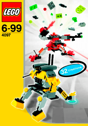 Mini Robots 4097 Lego Creator Building Instructions Lego