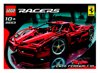 Enzo Ferrari 8653 Lego Ferrari Tm Building Instructions Legocom