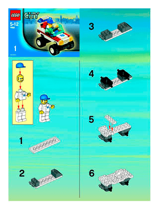 Hospital 7892 Lego City Emergency Building Instructions Lego