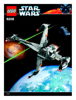 B Wing Fighter 6208 Lego Star Wars Tm Building Instructions