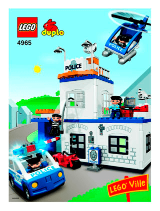 Police Action 4965 Lego Duplo Town Building Instructions Lego