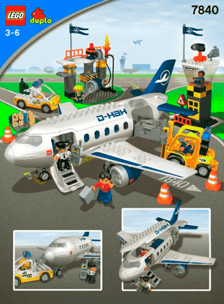 Airport Action Set 7840 Lego Duplo Town Building Instructions
