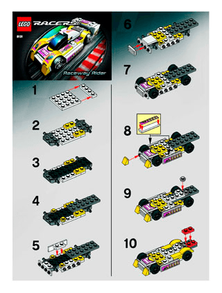 Raceway Rider 8131 Lego Racers Tiny Turbos Building Instructions