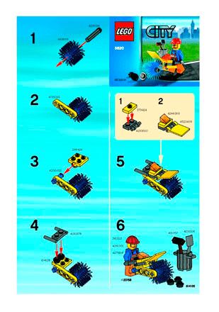 Street Cleaner 5620 Lego City Town Building Instructions Lego