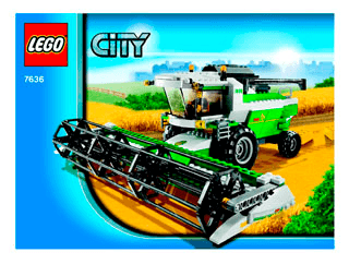 Højmoderne Combine Harvester 7636 - LEGO City Farm - Building Instructions LS-53