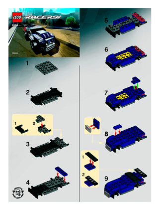 Nitro Muscle 8194 Lego Racers Tiny Turbos Building Instructions