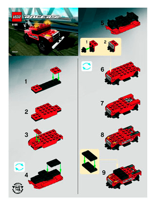 Turbo Tow 8195 Lego Racers Tiny Turbos Building Instructions