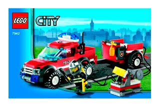 Lego off-road fire rescue instructions 7942, city police rescue.