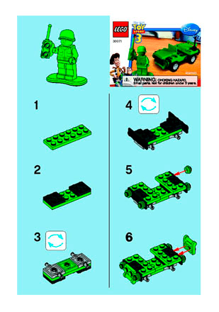 Army Jeep 30071 Lego Recruitment Bags Boys Building Instructions