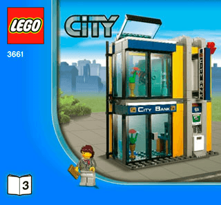 Bank Money Transfer 3661 Lego City Police Building