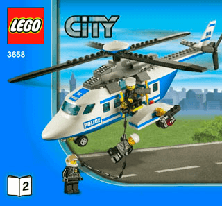 Police Helicopter 3658 Lego City Police Building Instructions