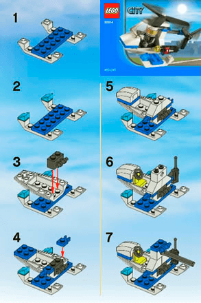 Police Helicopter 30014 Lego Recruitment Bags Boys Building