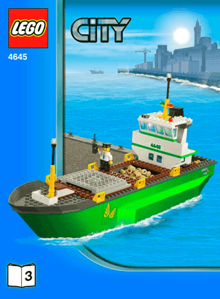 Harbor 4645 Lego City Harbour Building Instructions Lego