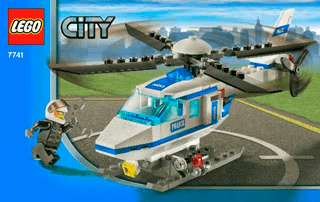 Police Helicopter 7741 Lego City Police Building Instructions