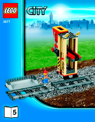 Red Cargo Train 3677 Lego City Trains Building Instructions