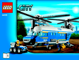 Heavy Duty Helicopter 4439 Lego City Police Building