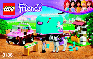 Emmas Horse Trailer 3186 Lego Friends Building Instructions