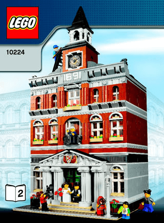 Town Hall 10224 Lego Creator Expert Building Instructions Lego