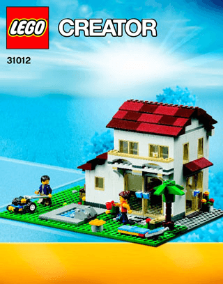 Family House 31012 Lego Creator Building Instructions Lego