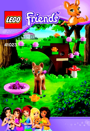 Fawns Forest 41023 Lego Friends Building Instructions Lego