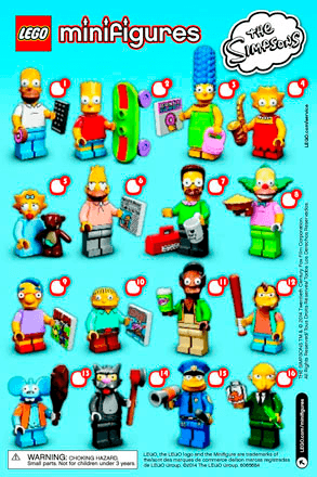 Lego Minifigures The Simpsons Series 71005 Lego Minifigures