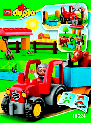 Farm Tractor 10524 Lego Duplo Town Building Instructions Legocom