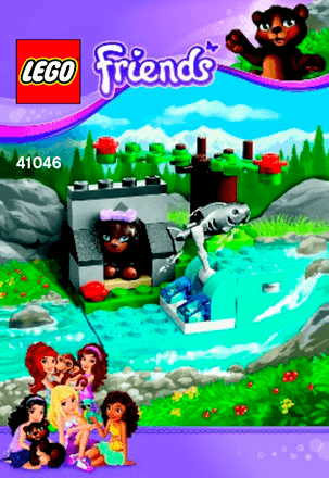 Brown Bears River 41046 Lego Friends Building Instructions