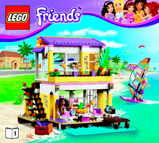Stephanies Beach House 41037 Lego Friends Building Instructions