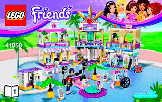 Heartlake Shopping Mall 41058 Lego Friends Building Instructions