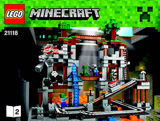 The Mine 21118 Lego Minecraft Building Instructions Legocom