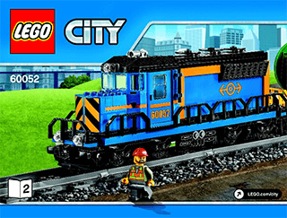 Cargo Train 60052 Lego City Trains Building Instructions Legocom
