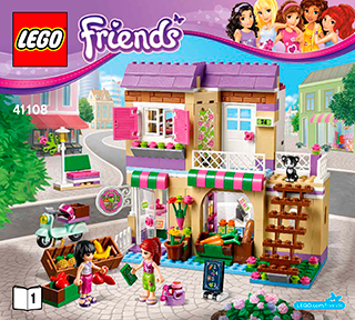 Heartlake Food Market 41108 Lego Friends Building Instructions