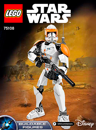 Clone Commander Cody 75108 Lego Constraction Star Wars Building