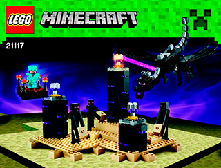 the ender dragon 21117 lego minecraft building instructions