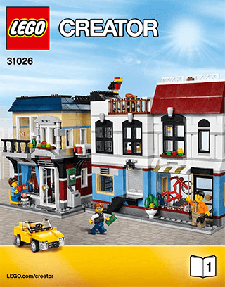 Bike Shop Caf 31026 Lego Creator Building Instructions Lego